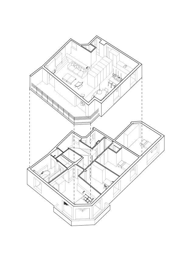 Duplex - Paris 16,Diagram