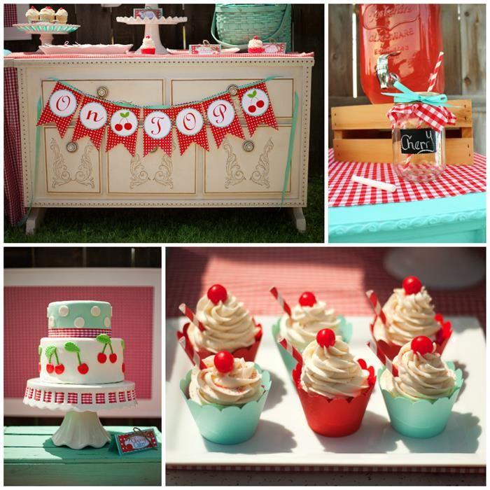U0027Cherry On Topu0027 Birthday Party Theme~ Love This Color Combo! {Karau0027s