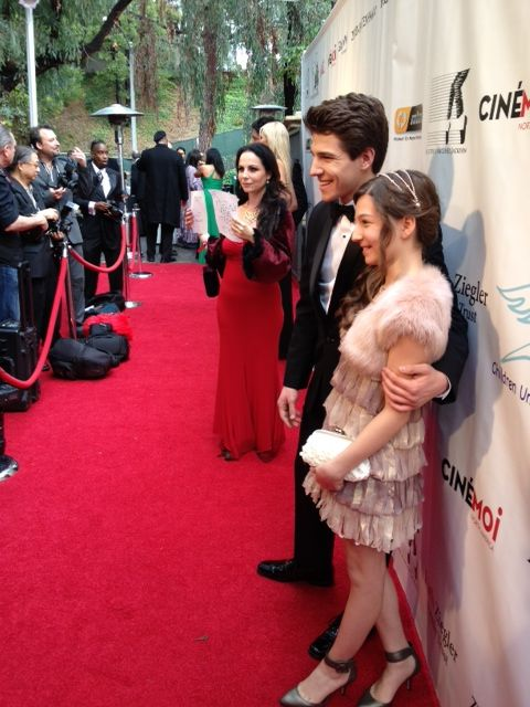 Brother & Sister actors Stephanie Katherine Grant and Michael Grant make for a pretty duo pose on the Children's Uniting Nations Oscar viewing party.
