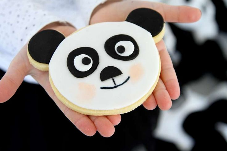 Cookies at a panda birthday party! See more party planning ideas at…