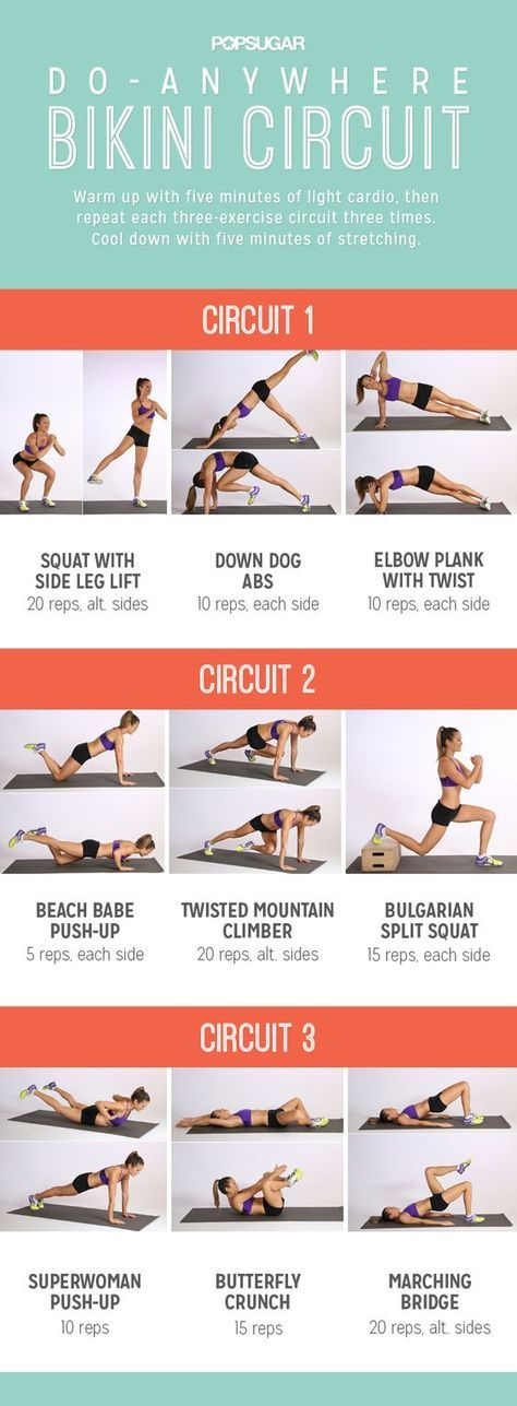 No equipment needed for this full-body workout, so you can do it anywhere!: