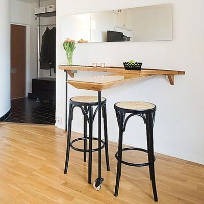 Барная стойка для маленькой кухни: спасение или обуза