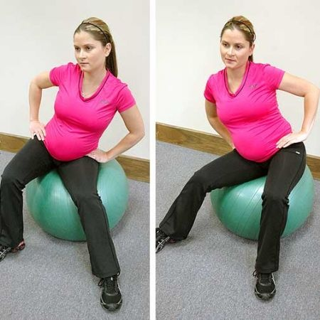 Is that baby almost ready to come out? Don't forget to stretch!  // Pregnancy exercises