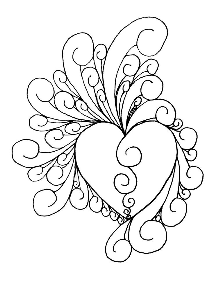 Heart quilting design