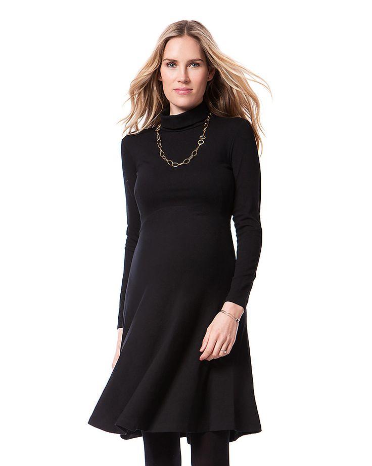 Vestito nero collo alto usa