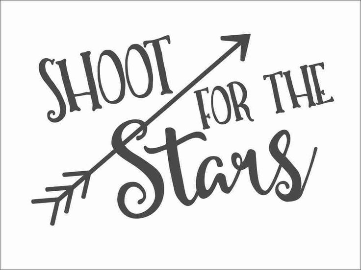 Shoot for the Stars - Inspirational Wall Decal with Arrows...  I already see Nerf bullets on the ceiling!