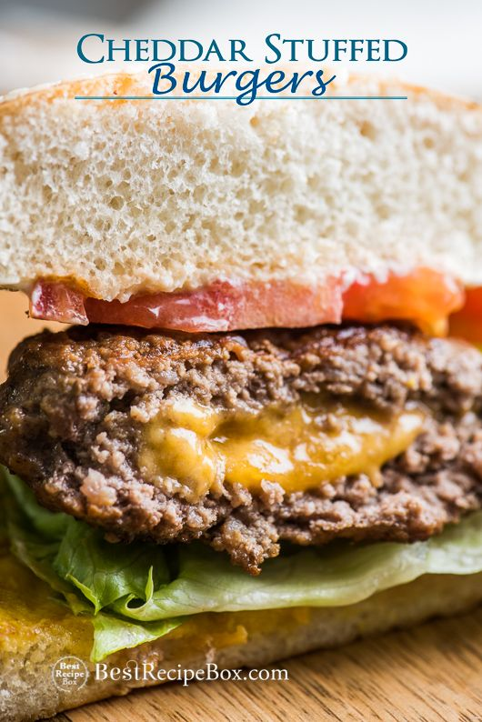 Best juicy lucy burger recipe. These cheddar stuffed burgers recipe is the ultimate cheeseburger recipe for grilling burgers on the bbq barbecue