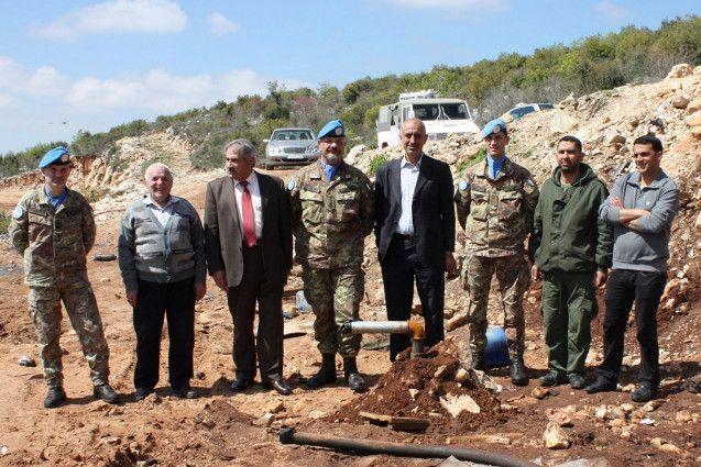 il mio ex comandanta col. M. A.  in Libano: Cerimonia di consegna di un pozzo di acqua potabile e fornitura di materiale all'Agenzia di sicurezza libanese