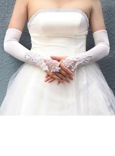 Gants Satin fingerless gants d'opéra de mariée Longueur (014004098)