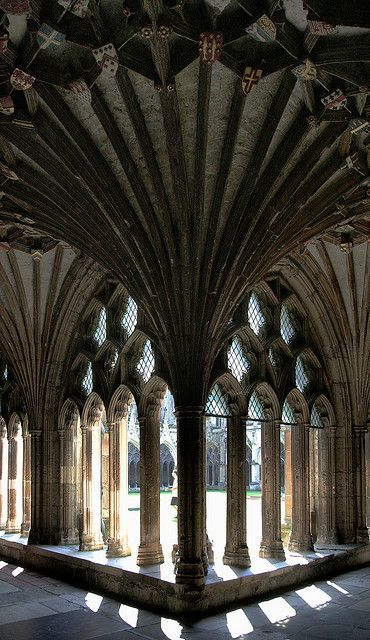 GOTHIC ARCITECTURE -Canterbury Cathedral - structure, patern, stain glass, religion, culture.