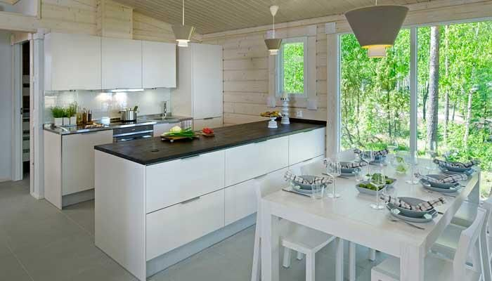 Honka loghouse - Kippari kitchen/diner