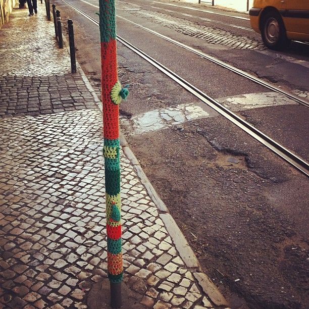 Urban Knitting Graffiti : Best yarn bombing images on pinterest street art