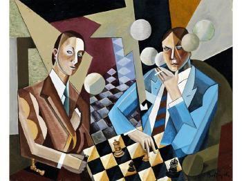Die Schachspieler by SANDOR BORTNYIK