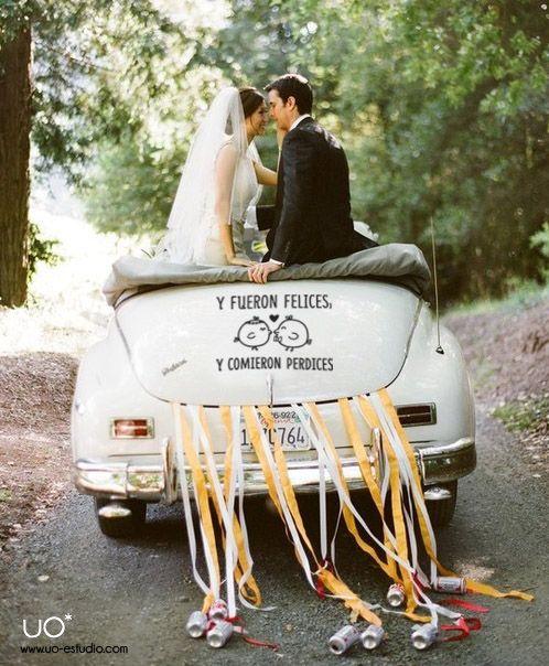 vinilo coche boda original y comieron perdices uo estudio creativo