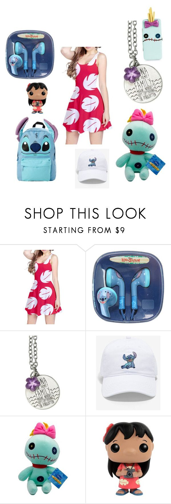 """Lilo and stitch lover ❤️"" by emogaykitten ❤ liked on Polyvore featuring Disney"