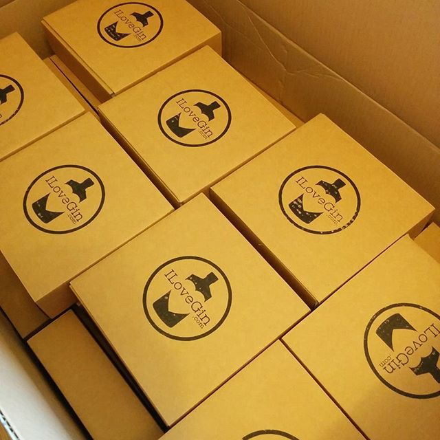 Let the packing commence! #ilovegin The Bermondsey box is available on our site now!