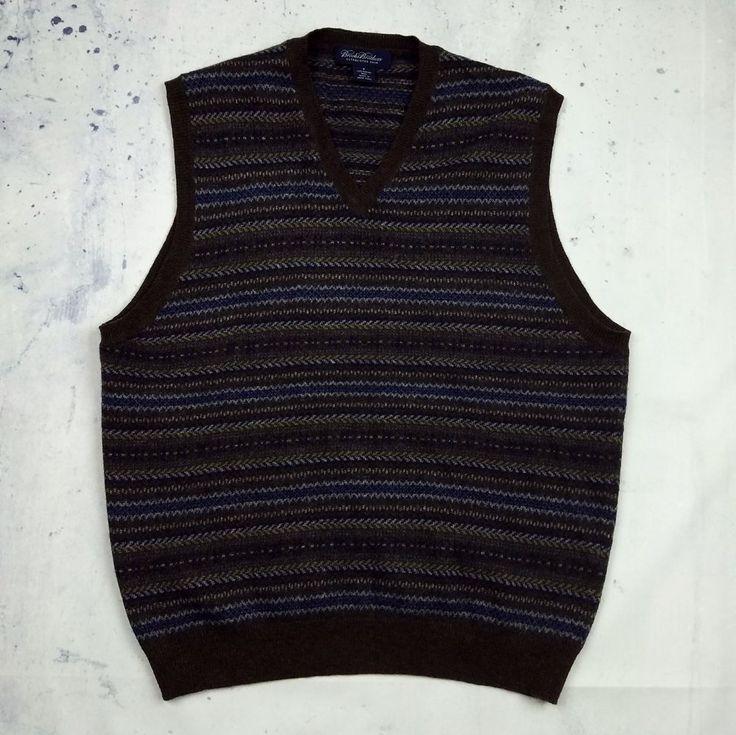Mens brown sweater vest
