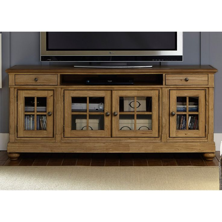 Liberty Furniture Harbor View TV Stand - Make your living space cottage-chic with the Liberty Furniture Harbor View TV Stand. Available in your choice of size and finish, this TV stand is...