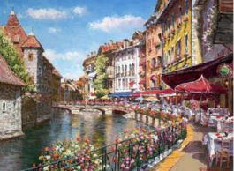 Tavaszi Annecy Díszítette Giclee vászon - 18 x 24