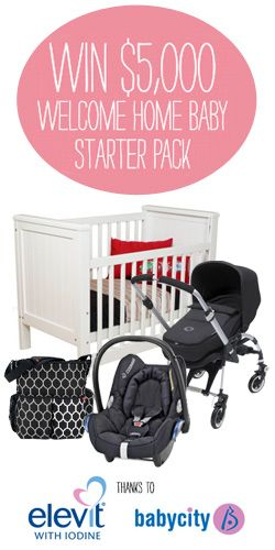 Win a $5000 Welcome Home Baby Starter Pack! #competition