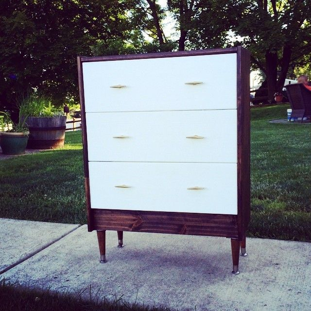 We turned an Ikea RAST dresser into this!  Legs from Lowe's Knobs from Anthropologie