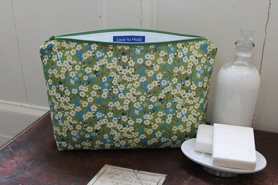 Wash Bag / Toiletry Bag in Liberty Fabric Mitsi by LovetoHold