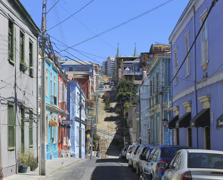 Colorful street in #Valparaiso #Chile