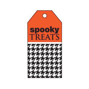 Halloween Black Houndstooth Gift Tag from MyRecipes.com