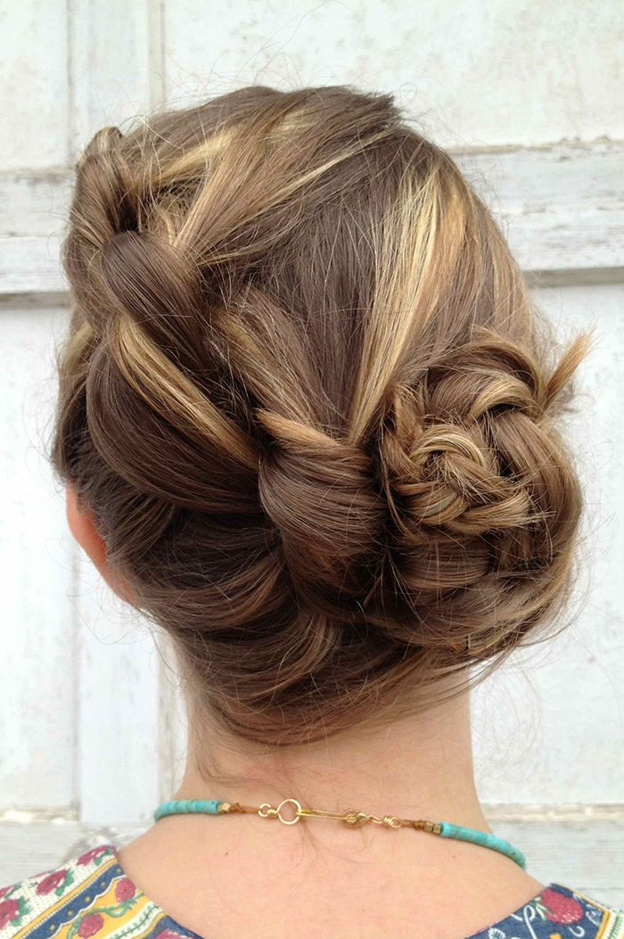 Braided Bun Hair Style Makeup
