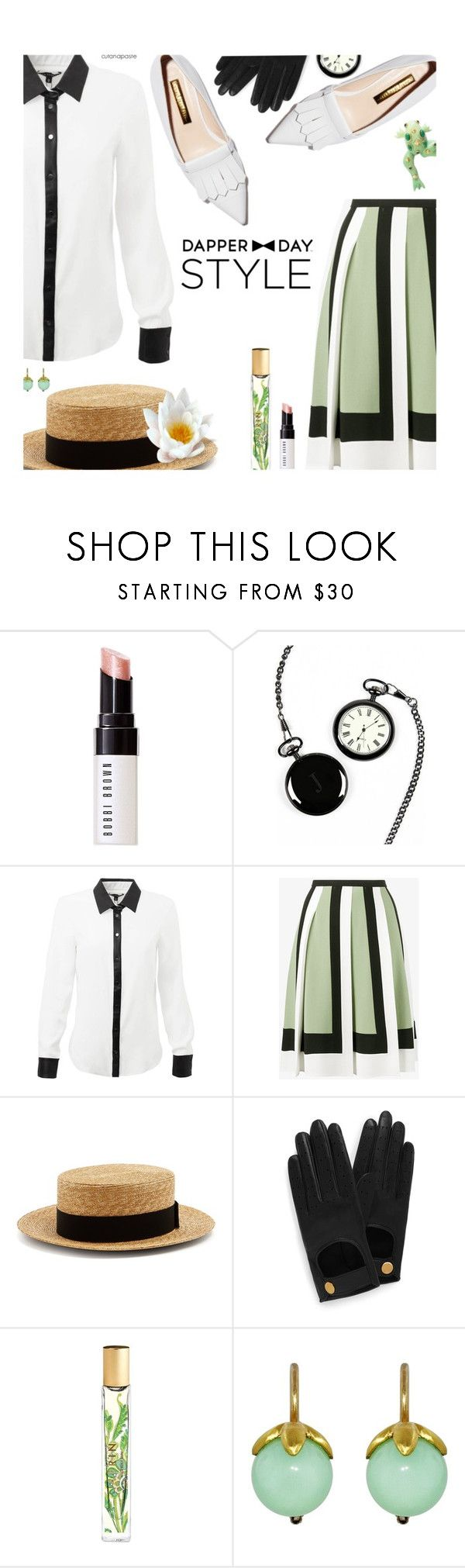"""""""Dapper Day Style"""" by cutandpaste ❤ liked on Polyvore featuring Bobbi Brown Cosmetics, Cathy's Concepts, Valentino, Prada, Mulberry, AERIN, Cathy Waterman, Replica and vintage"""