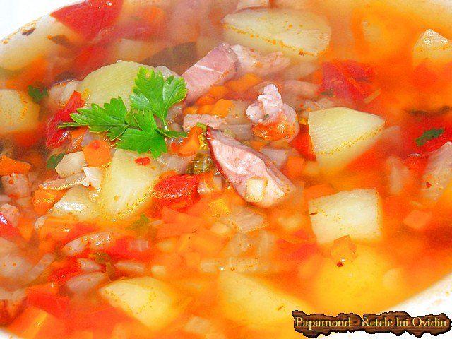 Ciorba de cartofi noi cu afumatura | Papamond