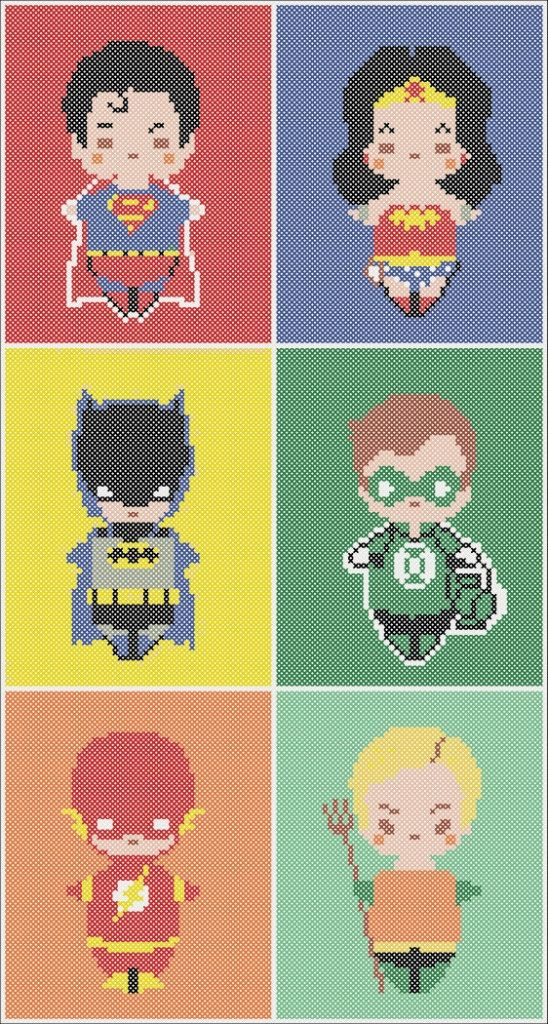 BOGO Free! Cross stitch pattern  - BATMAN vs SUPERMAN   Wonder Woman pdf cross stitch pattern  -  pdf pattern instant download #127
