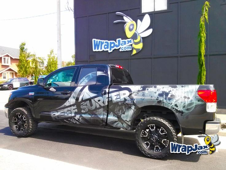 Wrapjax Com Reef Surfer Vehicle Wrap On Toyota Tundra
