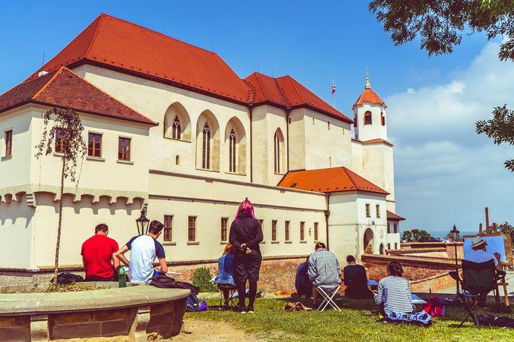 Artists paint Špilberk Castle in Brno, Czech Republic – Ben Finch