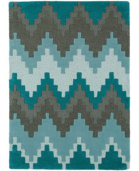 Asiatic Cuzzo Teal Wool Rug