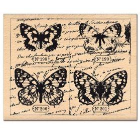 Tampon Caoutchouc - Florilèges Design - Planche papillons