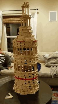 """Share this """"Jenga trap cat"""" animated gif image with everyone. Gif4Share is best source of Funny GIFs, Cats GIFs, Dog GIFs to Share on social networks and chat."""