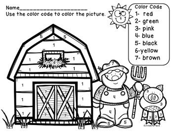 FREEBIE! Color recognition sheet and color by number picture help children learn and recognize color words and numbers while coloring a fun picture!