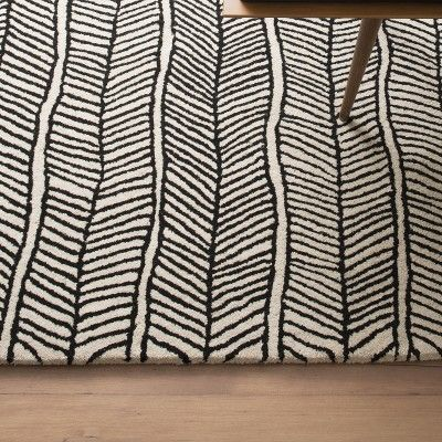 Herringbone Rug - Black | Rugs | Accessories