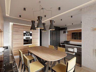Интерьер двухкомнатной квартиры в современном стиле в ЖК «Дом на Лиговском проспекте», 70 кв.м.
