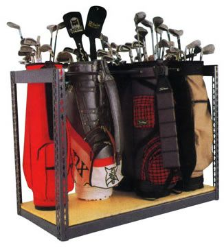 Golf Bag Storage Plans | Single Sided Bag Storage Rack Half High Double  Deep Clubstor Solves