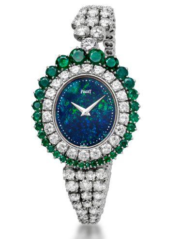 Diamonds and emeralds Piaget high jewelry watch
