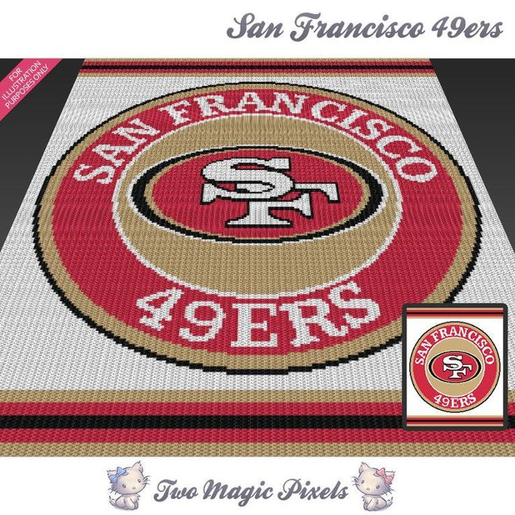 Looking for your next project? You're going to love San Francisco 49ers c2c crochet graph by designer TwoMagicPixels.