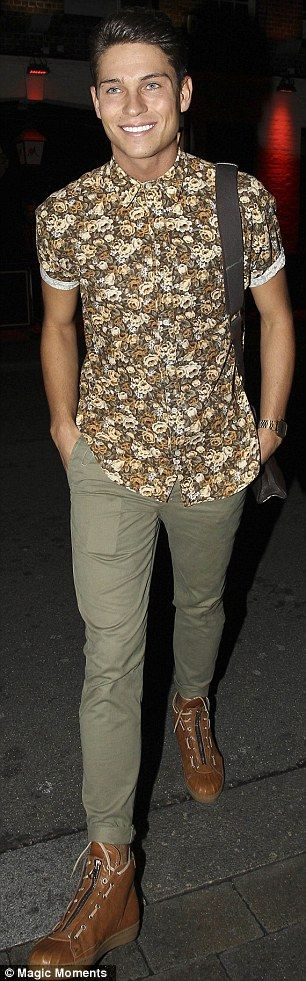 Stylish siblings: Joey Essex enjoyed the night  tweeting 'Had a good time at sugahut tonight with ITV2 family'