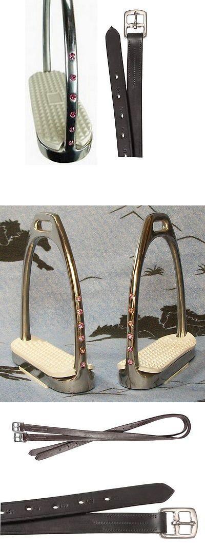 Stirrups 183379: English Horse Saddle Bling ! Pink Crystal Rhinestones Stirrups Irons W Leathers -> BUY IT NOW ONLY: $46.95 on eBay!