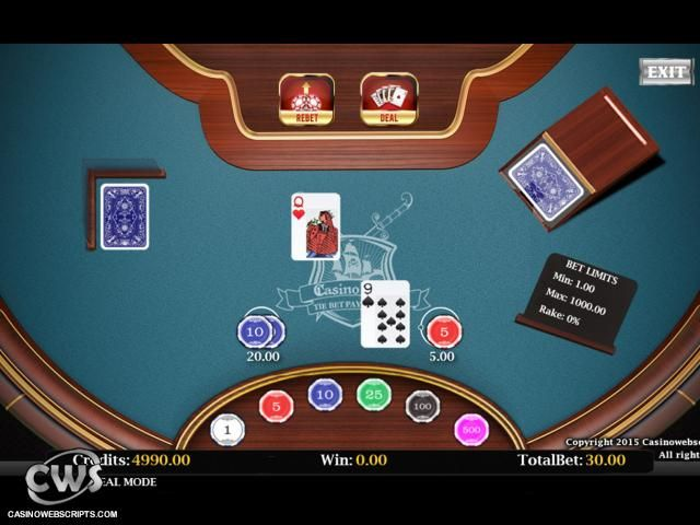 Casino table card games