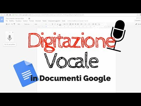 La digitazione vocale nei Documenti Google: video tutorial di Jessica Redeghieri