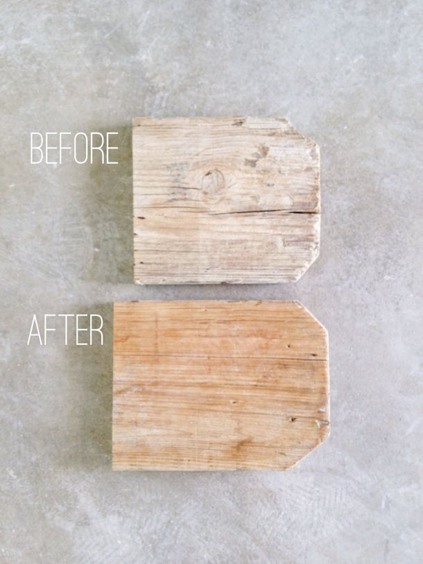 Planks: wire brushed to remove most of the debris, then a coat of clear, matte sealer will be applied. In the photo below you can see the difference it makes.
