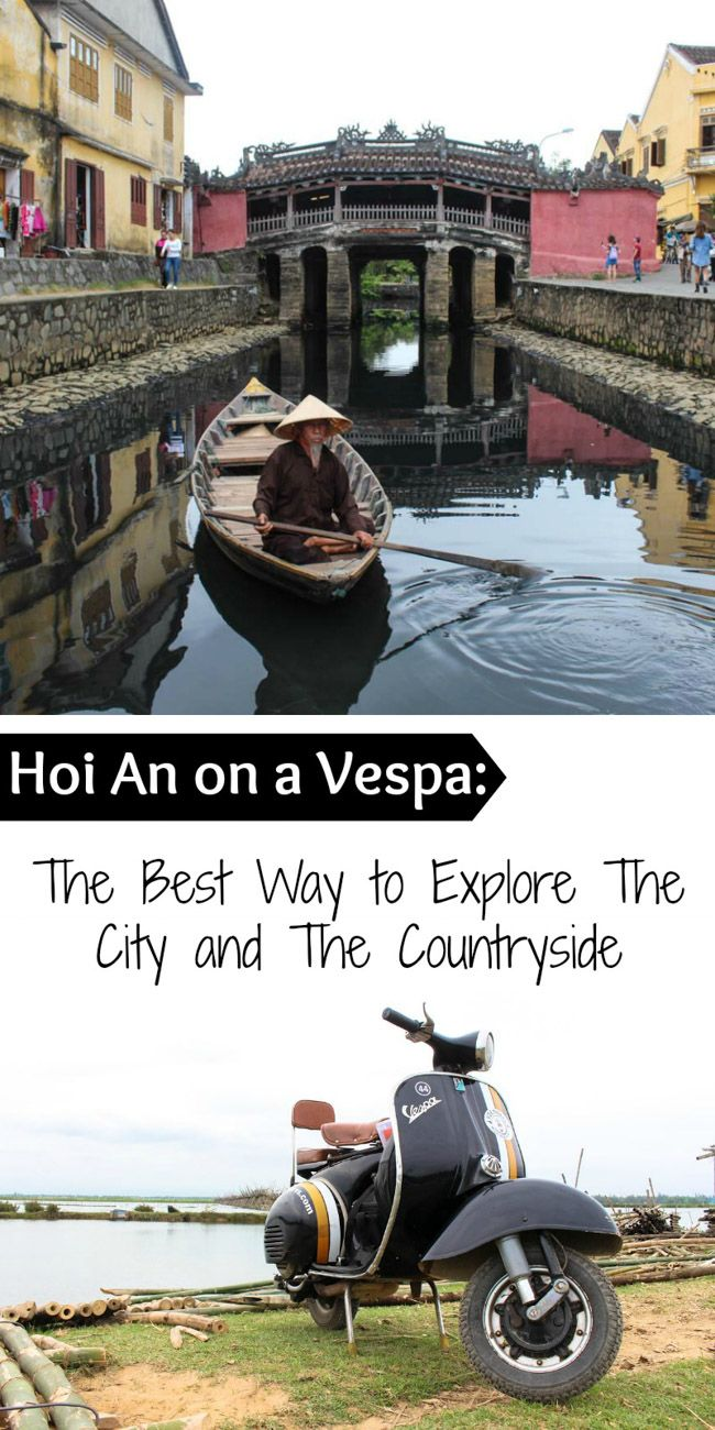 Discover Hoi An in a unique way! Go on a Vespa Tour through the countryside and witness the local life in. Plus travel tips, the best attractions and where to stay in Hoi An, Vietnam