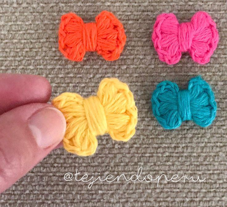 Mini lazo tejido a crochet en punto puff o garbanzo  Video tutorial del paso a paso!